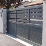 Portail de cloture ajouré gris anthracite à Moncoutant 79